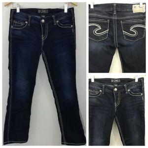 Silver Jeans Francis Capri Jeans Size 29 x 25